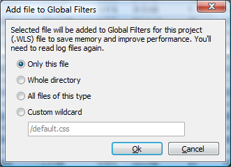 Add files to global filters